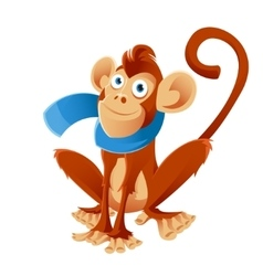 Monkey and scarf vector