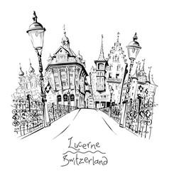 Old town lucerne switzerland vector