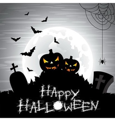 on a Halloween theme on a moon vector image