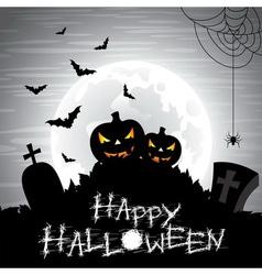 On a Halloween theme on a moon vector