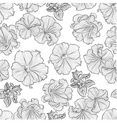 Pattern with petunia vector