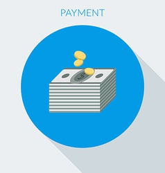 Payment concept Hand giving money to other hand vector