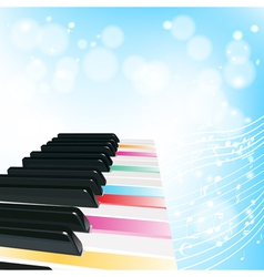 Piano musical background vector