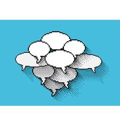 pixels bubbles vector image