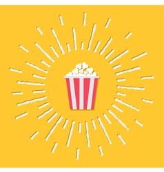 Popcorn bag shining effect Flat vector