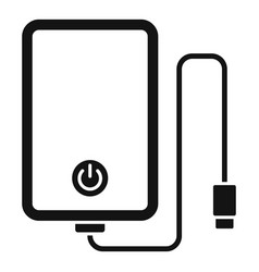 power bank cable icon simple style vector image