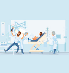 pregnant woman gives birth in the hospital vector image