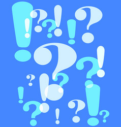 Question and exclamation marks vector