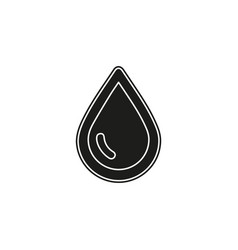 rain drop - raindrop symbol isolated - nature vector image