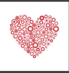 red heart of the rings happy valentines day card vector image
