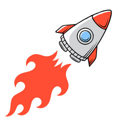rocket 001 vector image