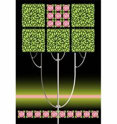 rose nouveau vector image