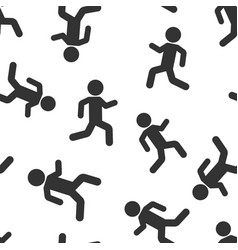 running people sign icon seamless pattern vector image