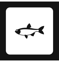 Salmon icon simple style vector image