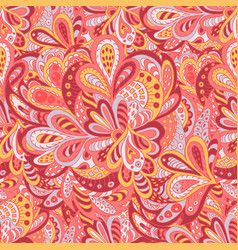 Seamless pattern ethnic floral rosy and yellow vector