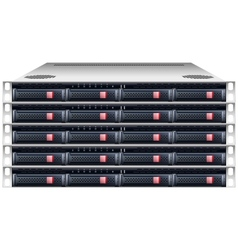 Server rackmount chassis vector