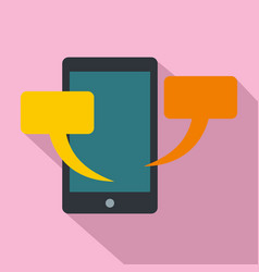 smartphone chat icon flat style vector image