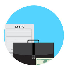 Taxes in business icon app vector
