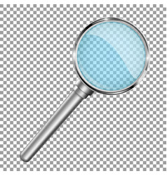 transparent magnifying glass 3d vector image