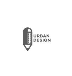 urban design logo vector image