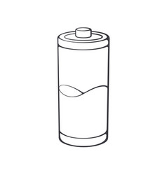 Used charge level battery indicator outline icon vector