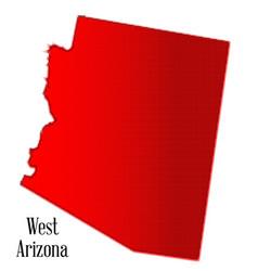 west arizona halftone vector image