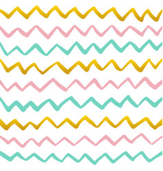 zig zag paint seamless pattern vector image