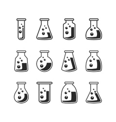 Flask set vector image