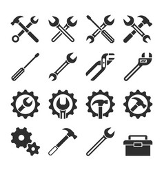 technology and maintenance service tools vector image