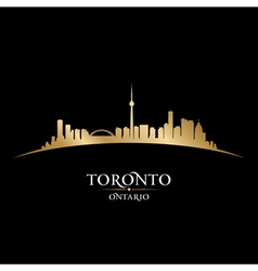 Toronto Ontario Canada city skyline silhouette vector image