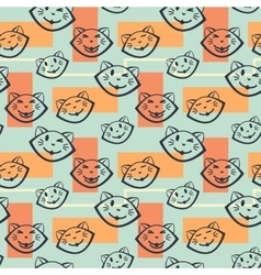 Cats pattern vector image vector image