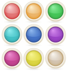 Colorful web design buttons vector image
