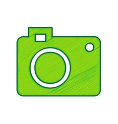 digital camera sign lemon scribble icon vector image vector image