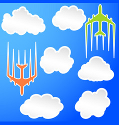 flying airplane airliner jet transport icon vector image vector image