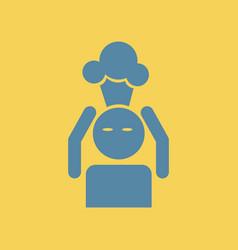 Man with headache head illness vector