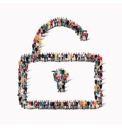 people shape lock group vector image vector image