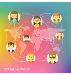 Social media circles network vector