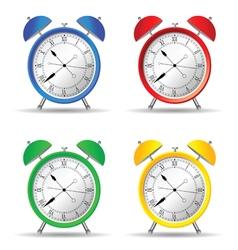clock set color vector image vector image