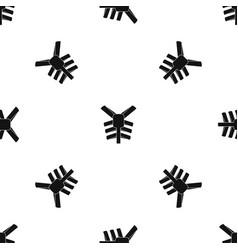 human thorax pattern seamless black vector image