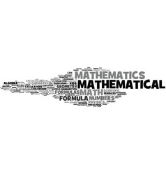 Mathematical word cloud concept vector