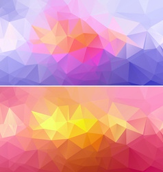 Polygon Paper Backgrounds 01 vector image vector image