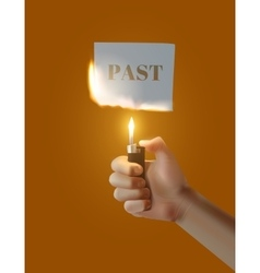 Concept Parting with the past vector image vector image