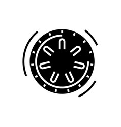 safe bank icon black sign on vector image