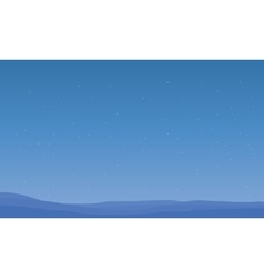 Silhouette of desert at night scenery vector image