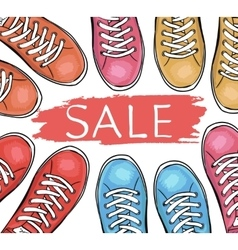 Summer trendy sports shoes Sale of sneakersTo vector image vector image