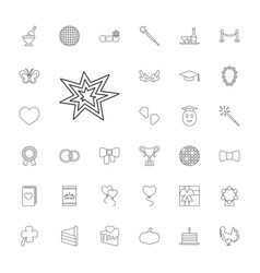33 celebration icons vector