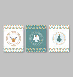 A set of posters or postcards christmas market vector