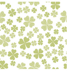 Abstract seamless pattern with green shamrock vector