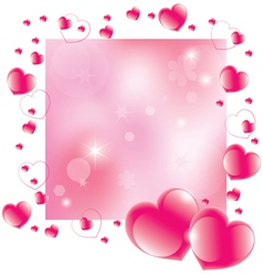 abstract valentines day background vector image