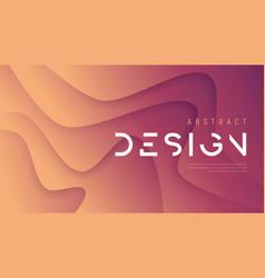 Abstract wavy background trendy minimalist vector